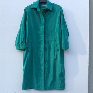 💛Forecaster Of Boston Vintage Long Trench Coat Green Size 11
